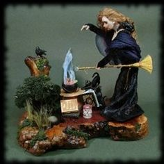 Witch casting a spell by Deborah Mackie