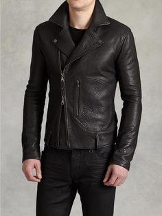 Leather Biker Jacket - John Varvatos