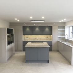 For our 100 Beautiful Kitchens competition, we asked builders to share photos of. Open Plan Kitchen Living Room, Home Decor Kitchen, Rustic Kitchen, Kitchen Interior, Kitchen Ideas, Interior Modern, Grey Gloss Kitchen, Grey Kitchen Floor, Kitchen Flooring