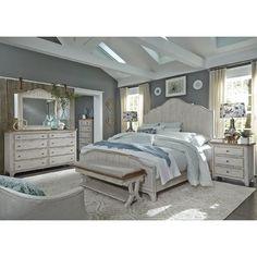 Art Van 6Piece Queen Bedroom Set  Overstock Shopping  Big Classy Wood Bedroom Sets Design Inspiration