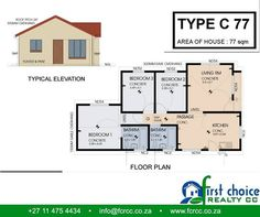 First Choice Realty CC has a number of home plans which are designed around affordability and budget. Contact us for a consultation and we can build the home that suit your pocket and your 3 Bedroom Plan, First Choice, Affordable Housing, Timeline Photos, Ideal Home, Budgeting, House Plans, Investing, Floor Plans