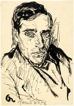 Portrait Study - Josef Albers Pen and ink Josef Albers, Anni Albers, Concrete Art, Art Database, Figure Drawing, Art Studios, Art Drawings, Art Photography, Illustration Art