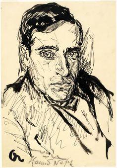 Portrait Study, 1918 by Josef Albers. Expressionism. portrait