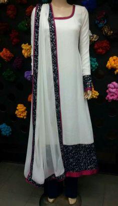 Salwar Neck Designs, Dress Neck Designs, Stylish Dress Designs, Kurta Designs Women, Designs For Dresses, Stylish Dresses, Simple Dresses, Blouse Designs, Suit Fashion