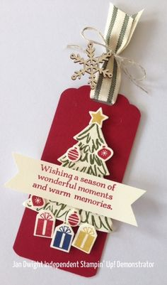 Very happy with this tag, and the ribbon was a good match.  Thats what I love about Stampin' Up!, everything co-ordinates!