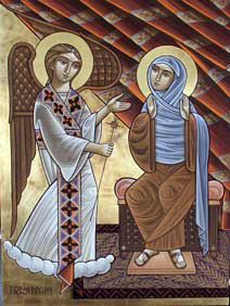 Image result for angel visits mary coptic