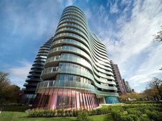 shimmering apartment complex on St Kilda Road has won the state's highest architecture award.     Wood Marsh Architecture was presented with the Victorian Architecture Medal at last night's Royal Institute of Architects awards for its innovative use of space and form in the Yve Apartments.