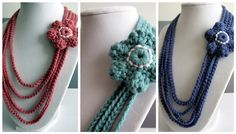 Crochet Chain Necklace. These are so lovely! Simple and quick to make from designer Lindsay from Love City. ¯\_(ツ)_/¯