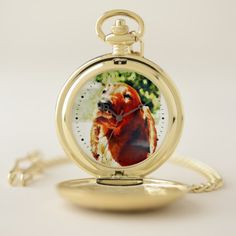 Precious Irish Setter Puppy Pocket Watch - diy cyo customize create your own personalize