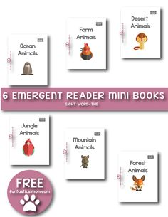 Here are 6 FREE Animals mini books to practice reading comprehension skills. These emergent reader mini-books created for beginner readers (level aa). Each