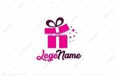 Logo for sale: Zip Gift Logo by SimplePixel, uploaded on Logo design of a pink gift that is being opened by a zipper in the center. Gift Logo, Pink Gifts, Logo Design, Zip, Logos, Cards, Logo, Maps, Playing Cards