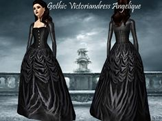 The 5th dress in the 'Gothic Victorian' serie.  Found in TSR Category 'Sims 3…