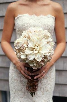 Rustic & Vintage Wedding Bouquet. $120.00, via Etsy.
