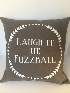 Star Wars inspired Laugh it up, Fuzzball movie quote pillow  This cover is made with a charcoal grey cotton/poly/linen blend that is super soft