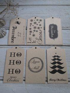 Image of NOUVEAU Etiquettes Noël