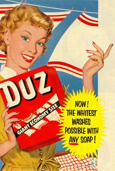 1952 Duz Detergent Vintage Look Metal Sign image 1 Old Advertisements, Retro Advertising, Retro Ads, Advertising Signs, Vintage Signs, Vintage Ads, Vintage Looks, Vintage Posters, Man Cave Garage