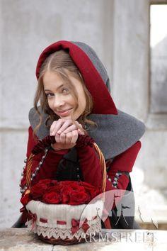 Red Riding Hood Hat woolen headwear chaperone cap by armstreet