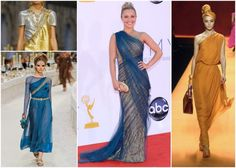 Poised to win. SAREE AS A GLOBAL INSPIRATION. Clockwise from top-left: Chanel, Marchesa, Hermes, Chanel.