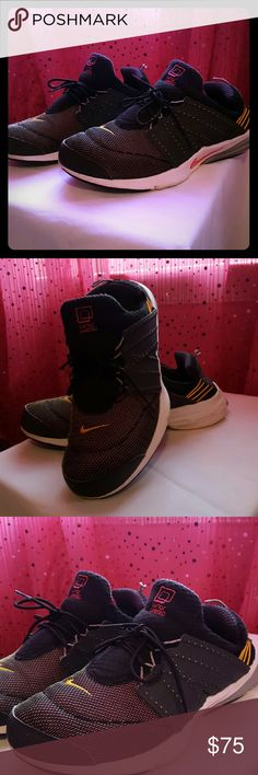 Nike Lunar Presto Used Nike Presto color Primarily black. GRAY with a hint of pink and yellow ascents. Nike Shoes Sneakers