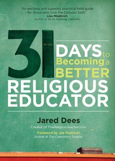 31 Days to Becoming a Better Religious Educator by Jared Dees