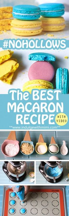 The Best Macaron Recipe My first ever post on this blog! It's only fitting that I talk about my favourite item to bake – macarons!. My obsession with making macarons started a mo…