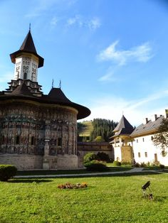 Sucevița Monastery is an Eastern Orthodox convent situated in the Northeastern part of Romania. It is situated near the Suceviţa River, in the village Sucevița. www.romaniasfriends.com Romanian People, Carpathian Mountains, Monuments, Southern, Wanderlust, River, Mansions, Country, Architecture