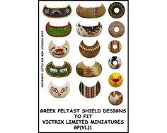 Greek Peltast shield designs #1 (28mm)
