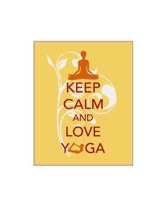 Keep Calm and Love Yoga Gift Art Print Zen Om Peace On Meditation Relaxation Do Yoga Instructor Gift Meditate Relax Inner Peace Breathe. $12.00, via Etsy.