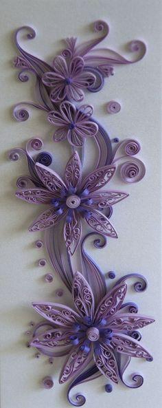 #purple  #quilling