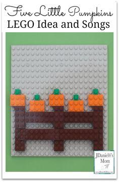 Five Little Pumpkins LEGO Idea and Songs