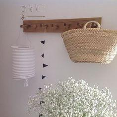 Une patère au style naturel / La décoration des internautes #Semaine 42 - 100 Idées Déco