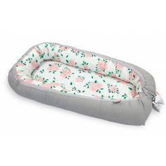 Pamut waffel babafészek - Rose, szürke Siding Materials, Pink And Green, Comforters, Sunglasses Case, Floral, Pattern, Bee, Strong, Child