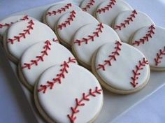BATTER UP BASEBALL Sugar Cookie Party Favors 1 by sugarandflour by kathie