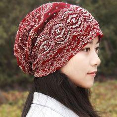 7815b1936629b Women Cute Lace Flexible Ponytail Beanie Vogue Vintage Multifunctional  Casual Scarf Hat