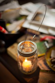 Hanging Mason Jar Holder from Bourbon & Boots