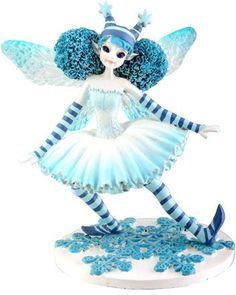 Snowy Fairy Collectible Pixie Nymph Sculpture Statue. #Fairy #Figures #Sculptures #Figurines #Fantasy #gosstudio #Gift .  ★ We recommend Gift Shop: http://www.zazzle.com/vintagestylestudio ★