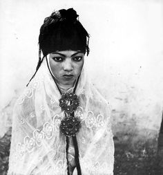 A 1960 photograph of an Algerian woman in a French regroupment village. (Photo by Marc Garanger) http://avaxnews.net/educative/Women_Unveiled_Marc_Garangers_Contested_Portraits_of_1960s_Algeria.html
