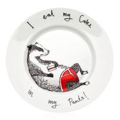 Cheese & Bicycles Plate | Jimbob Art | Wolf & Badger