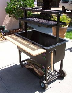 Santa Maria style grill(one of our 5 BBQ's) keeping it real in the front yard YO. - Grill - You are in the right place about grilling fer Here we offer you the Bbq Grill, Front Grill, Barbacoa Jardin, Santa Maria Grill, Built In Grill, Rocket Stoves, Backyard Bbq, Outdoor Cooking, Grilling Tips
