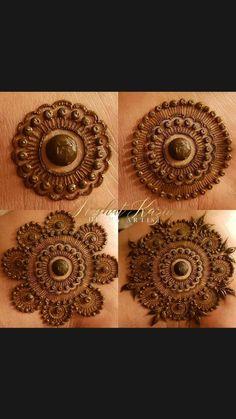 Circle Mehndi Designs, Very Simple Mehndi Designs, Round Mehndi Design, Mehndi Designs Front Hand, Mehndi Designs For Kids, Floral Henna Designs, Henna Tattoo Designs Simple, Latest Bridal Mehndi Designs, Mehndi Designs 2018