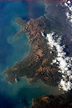 Astronaut Chris Hadfield took this picture of Wales when he was up in the International Space Station