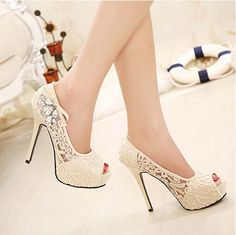 36.65$  Buy now - http://alit23.shopchina.info/go.php?t=32553973085 - Women Sandals Nice Fashion Sandalias Femininas Open Toe Women High Heels Shoes Platform Lady Sandals Lace Plus Size 35-41  #magazineonline