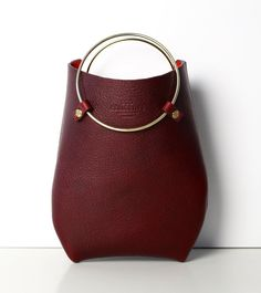 Leather Bag Handbag Statement Bag the O-Series by EcoCollectiveAus