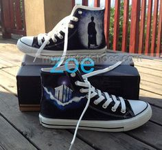 Doctor Who Shoes Doctor Who High Top Hand Painted Shoes Custom S,High-top Painted Canvas Shoes