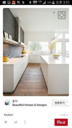 Contemporary Kitchen Design (Benefits and Types of Kitchen Style) Modern Kitchen Design, Interior Design Kitchen, Kitchen Designs, Modern Design, Modern Kichen, Parallel Kitchen Design, Voxtorp Ikea, New Kitchen, Kitchen Dining
