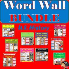 WORD WALL Posters BUNDLE Posters(U.S. History) What a great way to make sure your students use academic vocabulary and essential questions in your U.S. History class but to have them displayed on the wall in your classroom! Purchase in BUNDLE and receive 20% off!