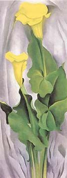 Georgia O'Keeffe Yellow Calla with Green Leaves