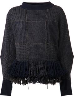 ~ Living a Beautiful Life ~ Sacai Peplum Fringe Sweater Fringe Sweater, Maxi Styles, Sweater Fashion, Refashion, Knitwear, Knit Crochet, Sweaters For Women, My Style, Scrappy Quilts