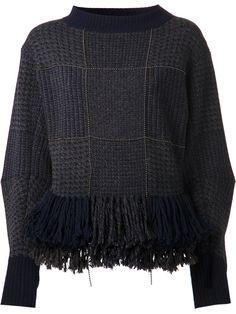 Sacai Peplum Fringe Sweater #Refinery29