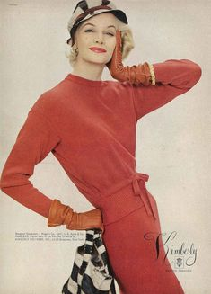 Sunny Harnett~ in an advert for Kimberly knitted fashions from September Vogue 1957 ~gorgeous ❤